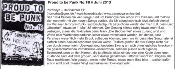 Proud to be Punk NR.18  05.06.2013